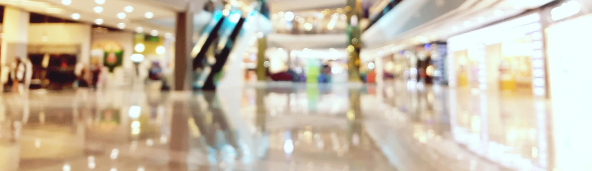 blurred mall shot
